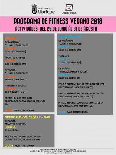 Cartel del programa de Verano 2018
